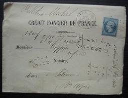Paris étoile 3 Place De La Madeleine 1864  Lettre Du Crédit Foncier Avec Documents De Bourse à L'intérieur Pour Volonne - 1849-1876: Classic Period