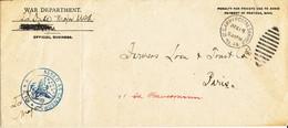 Lettre Des écoles De L'armée Américaine En Formation à Langres D'octobre 1917 à 1919 N° 14 Avec Killer Oval - WW I