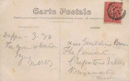 Semeuse Lignée N°129 Sur Carte Postale De Dieppe, Oblitération De Londres 1907. - 1877-1920: Semi-moderne Periode