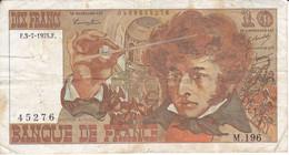 BILLETE DE FRANCIA DE 10 FRANCS DEL 3-7-1975 (BANKNOTE) BERLIOZ - 10 F 1972-1978 ''Berlioz''