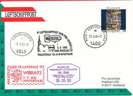 Austria UN Cover 4. Luftschiffpost Der Pro Juventute 5-5-1993 - 1991-00 Storia Postale
