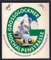 Grossglockner Hochalpenstrasse / Mountain, Car / Adesivo Sticker Label Autocollant - Pegatinas