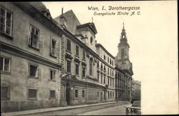 CPA Wien 1. Innere Stadt Österreich, Dorotheergasse, Ev. Kirche AC - Other