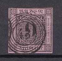 "Baden - 1851 - Michel Nr. 4 B N5 ""43"" Freiburg - Gestempelt - 35 Euro - Baden"
