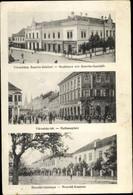 CPA Ungarn, Stadthaus Mit Szavits Geschäft, Rathausplatz, Honved Kaserne - Hungary