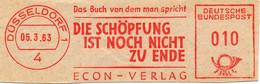 Freistempel Kleiner Ausschnitt 858 Buch Die Schöpfung Ist Noch Nicht Zu Ende - Machine Stamps (ATM)