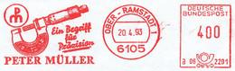 Freistempel Kleiner Ausschnitt 869 Messlehre - Affrancature Meccaniche Rosse (EMA)