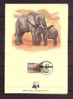 Oeganda / Uganda 362 MAXI Card WWF WNF (1983) - Uganda (1962-...)