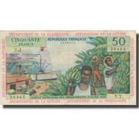 Billet, French Antilles, 50 Francs, 1964, KM:9b, TB+ - French Guiana