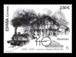 Spain 2021 Mih. 5524 Madrid Delicias Railway Station. Locomotive MNH ** - 2011-... Unused Stamps