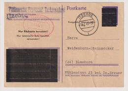 Not-GA, P E 656/08II, Itzehoe 12.4.45, Etwas Knittrig. EXTREM SELTEN - American/British Zone