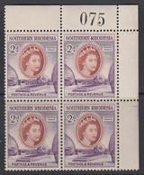 Southern Rhodesia, Scott 83 (SG 80), MNH Control Block - Southern Rhodesia (...-1964)