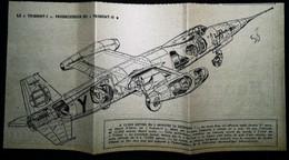 ► (1958) Plan Aviation - AVION De Chasse  TRIDENT - 13 X 26 Cm - Tools