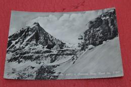 Aosta Cervinia Il Monte Cervino Matterhorn E La Funivia Con La Stazione Di Arrivo Pian Rosa 1962 + Timbro - Otras Ciudades