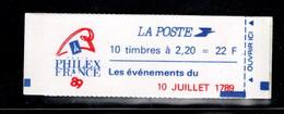France Carnet 2376 C12 Liberte De Delacroix 10 Juillet 1789 Fermé - Uso Corrente