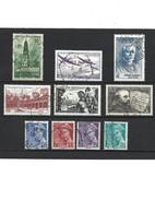 2-1 LOT De 10 Timbres 1942 YT 567-540-551-539-543-542-546-547-548-549 Oblitérés - Used Stamps