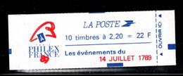 France Carnet 2376 C12 Liberte De Delacroix 14 Juillet 1789 Fermé - Definitives