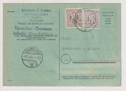 Behelfs-/Aufbrauchs-Not-GA,  P 690Fd(Fehldruck) Mit 2z,17aA, Hamburg/Fuhlsbüttel 20.5.46 - Zone Anglo-Américaine