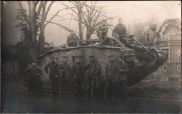! Foto Ansichtskarte, Photo, Deutscher Panzer, Tank, Schlacht Bourlon, 1. Weltkrieg, Guerre 1914-1918 - War 1914-18