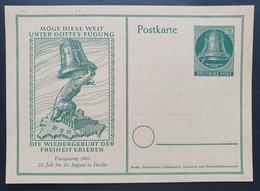 Berlin 1951, Postkarte P25 Ungebraucht - Postcards - Mint