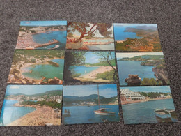 PAGUERA 9 POSTCARDS SOME POSTED ALL PICTURED MAJORCA MALLORCA - Mallorca