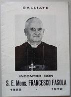 MONSIGNORE FRANCESCO FASOLA CINQUANTENARIO ( CART 72) - Storia