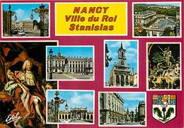 54 - Nancy - Multivues - Portrait Du Roi Stanislas - Blasons - Carte Neuve - CPM - Voir Scans Recto-Verso - Nancy