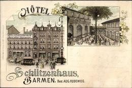 Lithographie Barmen Wuppertal In Nordrhein Westfalen, Hotel Schützenhaus, Inh. Aug. Rodewieg - Otros