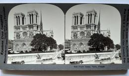 PARIS - Photo Stéréoscopique NOTRE DAME - Bouquinistes Au Premier Plan - 1909 - Ed. Keystone - TBE - Stereoscopio