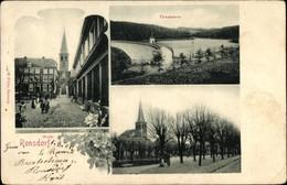 CPA Ronsdorf Wuppertal In Nordrhein Westfalen, Marktplatz, Talsperre, Straßenpartie Mit Kirche - Otros