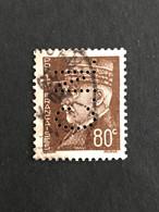 FRANCE C N° 512 Pétain C.N. 304 Perforé Perforés Perfins Perfin  !! - Perfins