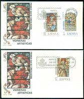 Spanien 24-10-1985 FDC (2) Glasfenster Nicht Adressiert - FDC