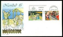Spanien 27-11-1985 FDC Weihnachten Nicht Adressiert - FDC