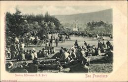 Relief CPA San Francisco Kalifornien USA, Sunday Afternoon At Golden Gate Park, Kutschen, Besucher - Otros