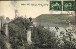 CPA Auvers Sur Oise Val D'Oise, La Peche A La Ligne - Altri Comuni