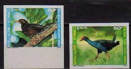 1985 New Caledonia Nouvelle-Caledonie Fauna Birds Purpurhuhn Südseedrossel  Imperforated MNH** MiNr. 772/73 - Geschnitten, Drukprobe Und Abarten