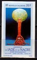 1990 New Caledonia Nouvelle-Caledonie Jade And Perls Exhibition Poster Art Imperforated  MNH** MiNr. 872 - Geschnitten, Drukprobe Und Abarten