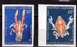 1990 New Caledonia Nouvelle-Caledonie Marine Life Deep Sea Cancers Imperforated  MNH** MiNr. 884/85 - Geschnitten, Drukprobe Und Abarten