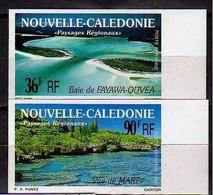 1991 New Caledonia Nouvelle-Caledonie Landscapes Sea By Maré, Bucht Fayawa Imperforated  MNH** MiNr. 897/8 - Geschnitten, Drukprobe Und Abarten