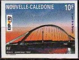 1992 New Caledonia Nouvelle-Caledonie Avia World Exhibit. Sevilla 92 Bridge Guadalquivir Imperforated MNH** MiNr. 931 - Geschnitten, Drukprobe Und Abarten