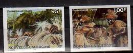 1995 New Caledonia Nouvelle-Caledonie Folklore Dance Of Kanaken Imperforated MNH** MiNr. 1055/6 - Geschnitten, Drukprobe Und Abarten