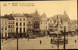 CPA Mechelen Malines Flandern Antwerpen, Grand' Place, Denkmal, Geschäfte - Altri