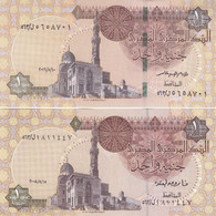 EGYPT 1 EGP POUND 2008 2016 P-50h NEW SIG/22,24 CROSS OVER 2 UNC SAME SERIES 563 - Egypte