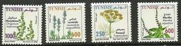 2005- Tunisie - Tunisia - Medicinal Plants - Plantes Médicinales - Complete Set 4v.MNH** - Piante Medicinali