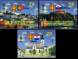 MACEDONIA NORTH 2021 - MACEDONIA IN EU PORTUGAL,SLOVENIA,CROATIA MNH - Macedonia