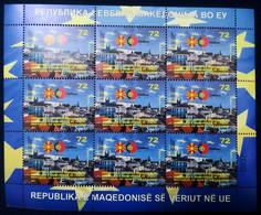 MACEDONIA NORTH 2021  MACEDONIA IN EU LISBON,PORTUGAL SS MNH - Macedonia