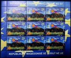 MACEDONIA NORTH 2021  MACEDONIA IN EU LJUBLJANA SLOVENIA SS MNH - Macedonia