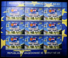 MACEDONIA NORTH 2021  MACEDONIA IN EU ZAGREB CROATIA SS MH - Macedonia