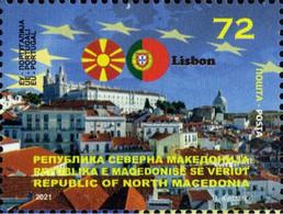 MACEDONIA NORTH 2021  MACEDONIA IN EU LISBON,PORTUGAL MNH - Macedonia