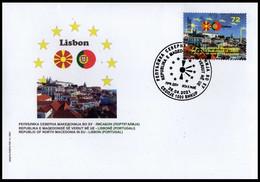 MACEDONIA NORTH 2021  MACEDONIA IN EU LISBON,PORTUGAL FDC - Macedonia
